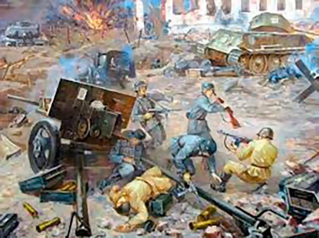 Фрагмент диорамы «Бой за Ржев 24 сентября 1942 года»