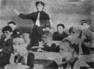 Тихо! Идут уроки!. Фото В.Бакулина, январь 1990