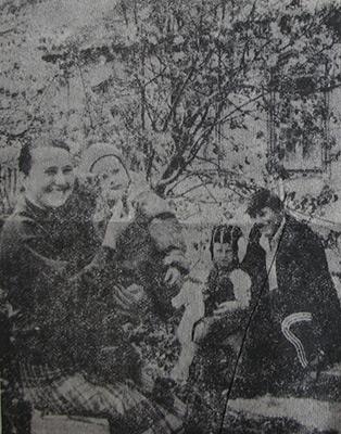 Представители молодого поколения старинного села - семья Олега и Натальи Кулаковых