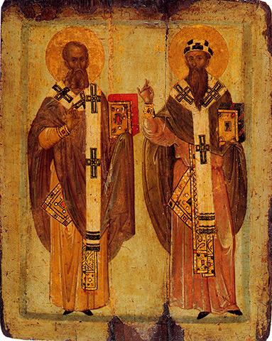 Афанасий и Кирилл Александрийские, Афон начало 14 века.