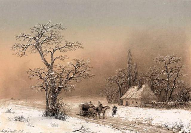 Иван Айвазовский. Зимний пейзаж, 1856