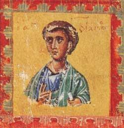 Апостол Филипп. Миниатюра Евангелия (фрагмент). Византия. 1133 г. Афины