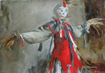 Швецова Анастасия. Масленица. холст/масло 70см x 100см 2008 г.