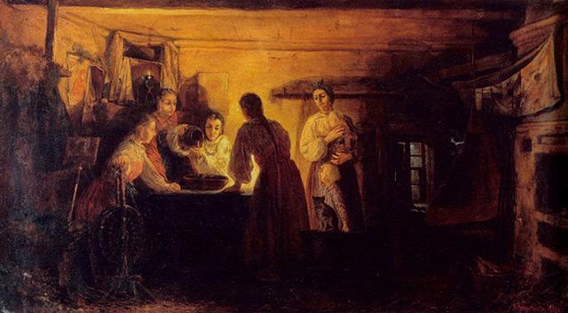Рябушкин Андрей Петрович (1861-1904) Гадание на святках. 1881 г