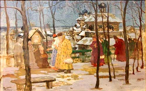 Горюшкин-Сорокопудов И.С. «На заре пасхального утра» 1910