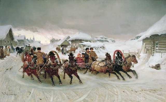 Масленица.1889 год. Грузинский Петр Николаевич(1837-1892)