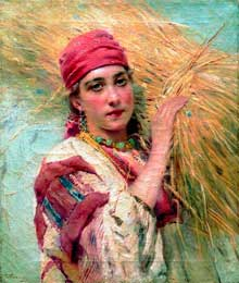Константин Егорович Маковский, Девушка со снопом. Середина 1888 г.