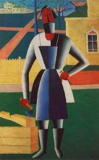 Казимир Малевич (1879–1935) (Польша). Плотник (1929). Санкт-Петербург. Русский музей (Россия), масло, 77 на 44 см