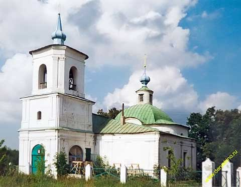Церковь Михаила Архангела в селе Малинки. Фото Андрея Агафонова с сайта http://www.deryabino.ru