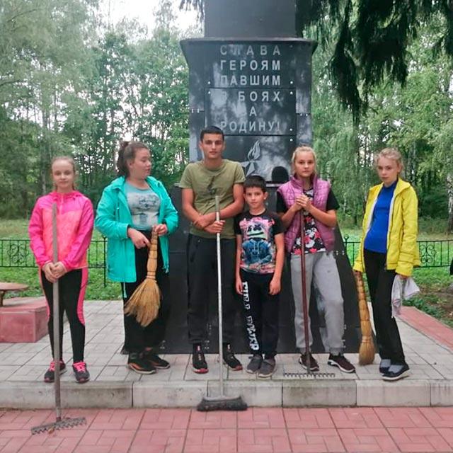 Мемориал в поселке центрального отделения совхоза имени Ильича