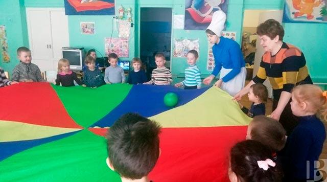 Активисты отряда в дошкольной группе «Колобок»