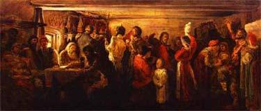 А. Рябушкин. Деревенская свадьба в Тамбовской губернии. 1880. Третьяковская галерея