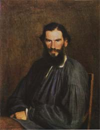 Л.Н. Толстой. Портрет работы И.Н. Крамского, 1873