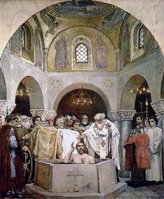 Васнецов Виктор Михайлович. Крещение князя Владимира. 1890г.