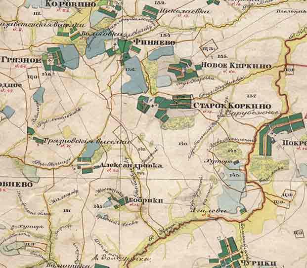 Рязанская губерния Менде 1850 гг. 1 см = 840 м (двухверстка). За карту огромное спасибо Андрею (inbox.ru)