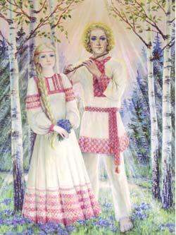 Крышень и Рада. Рисунок Нонны Кукель