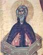 Симеон Столпник - деталь иконы Отечество с избранными святыми (Конец XIV в., новгородская школа)